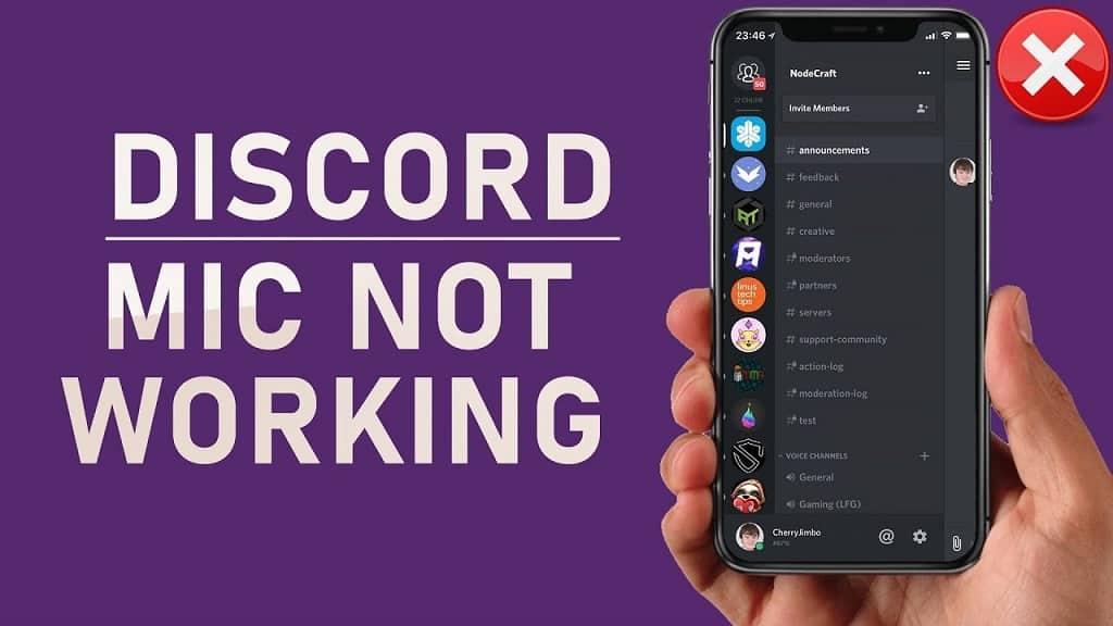 discord mic not working