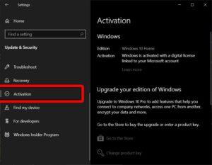 windows 10 digital licence