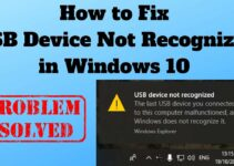 how to fix usb device not recognized in windows 10