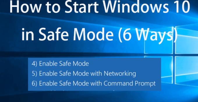 safe mode in Windows